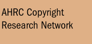 AHRC Copyright and Research Network